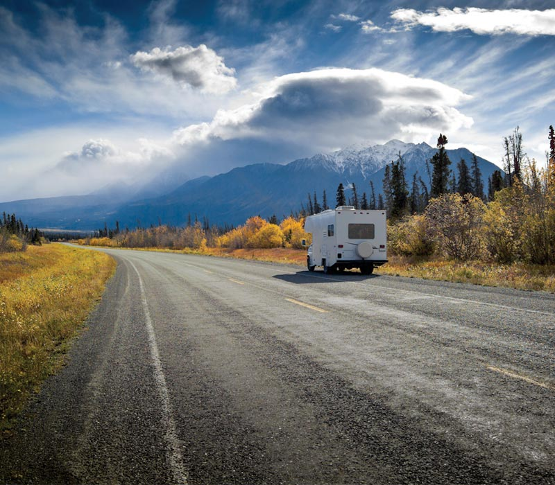 RV on the Alaska Highway
