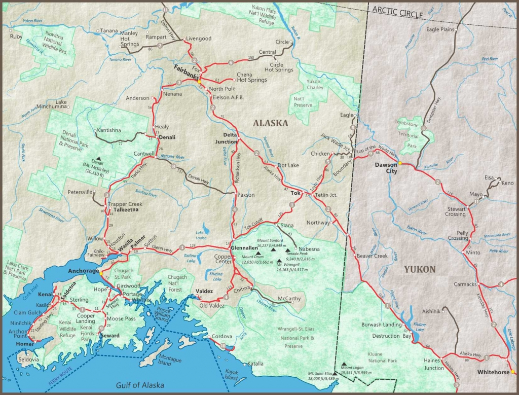 Alaska Maps Of Cities Towns And Highways