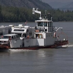 George black ferry in Dawson city Yukon