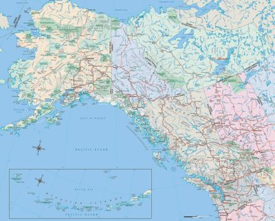 Map Of Alaska And Canada With Cities Maps | Bell's Travel Guides